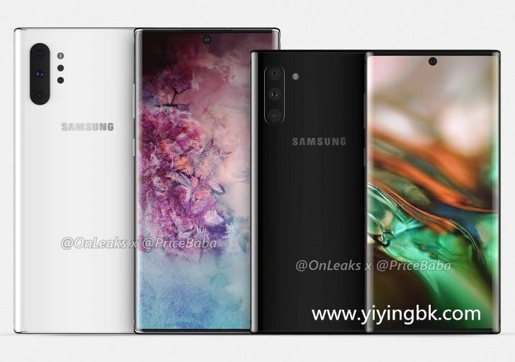 韩媒:三星Note10和pro 8月10日发布 两款机型渲染图公开