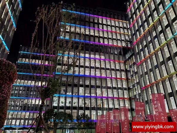 小米最新办公楼外部夜景