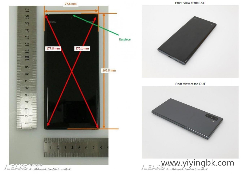三星Note 10真机入网照曝光 延续屏幕打孔设计