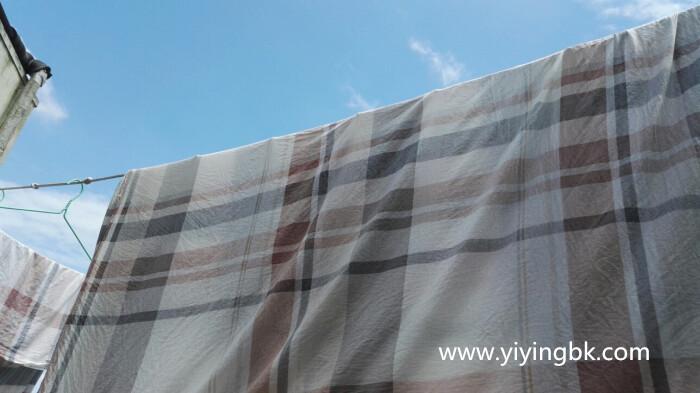 今天晴天洗洗衣服,晒晒被单,迎接明天的下雨天!